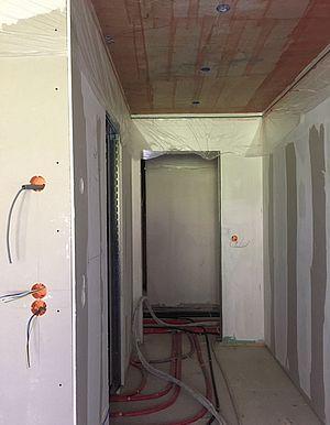 Vorbereitung Innenputz - Abkleben & Betonkontakt