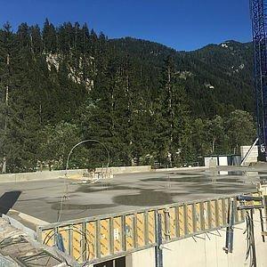 Bodenplatte EG wurde betoniert 26.08.16