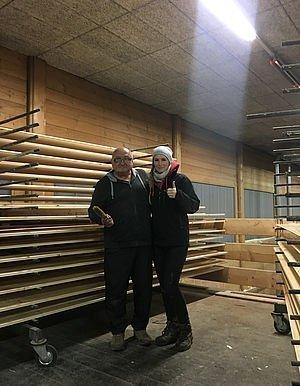 Streichen Dachstuhl & alle helfen mit 30.10.2016