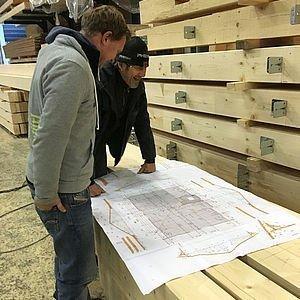 Besprechung Dachstuhl vom Holz Bliem