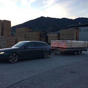 Unser Holz für den Dachstuhl vom Holz Schnell 28.10.2016